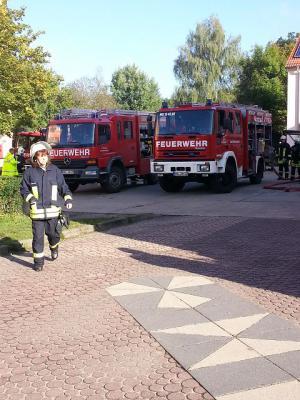 Foto zu Meldung: Große Feuerwehrübung in der Grundschule