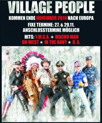 Foto zur Meldung: VILLAGE PEOPLE in Europa - Anschlusstermine möglich!