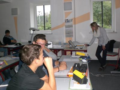 Foto zur Meldung: Bewerbungstraining in der Klasse 9