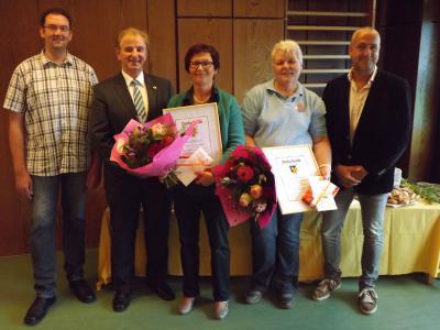 Foto zur Meldung: Zweimal 40. Dienstjubiläum in der Kindertagesstätte   Arche Noah in Rheinböllen