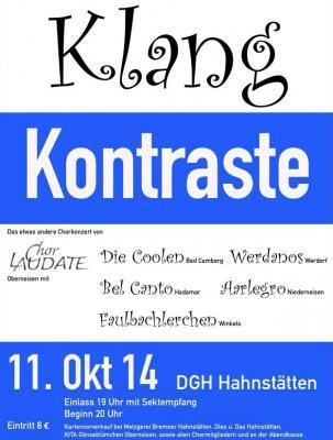 """Foto zur Meldung: Einladung zum Konzert """"KlangKontraste"""""""