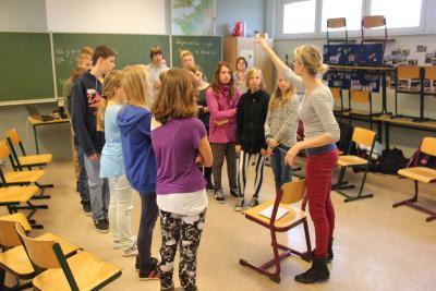 Foto zur Meldung: Französisch-Unterricht mit dem FranceMobil