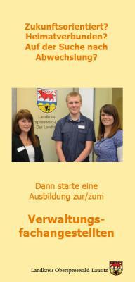 Foto zur Meldung: Auszubildende stellten Ausbildung beim Landkreis vor/ Bewerbungen für 2015 bereits möglich