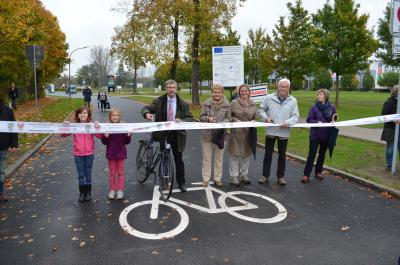 Vorschaubild zur Meldung: Heidelberger Straße: Oranienburgs erste Fahrradstraße