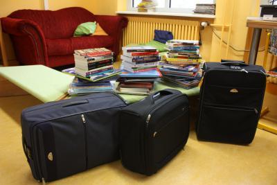 Vorschaubild zur Meldung: L´aventure de trois valises noires à Francfort