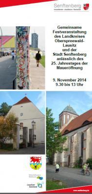 Festveranstaltung in Senftenberg anlässlich 25 Jahren Maueröffnung