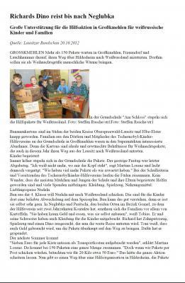 Foto zur Meldung: Richards Dino reist bis nach Neglubka