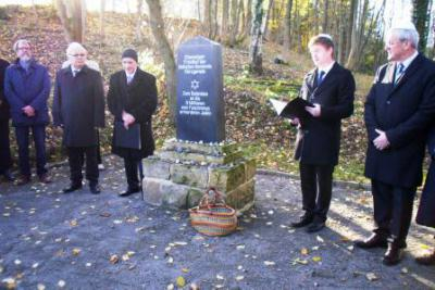 Foto zur Meldung: Gedenkfeier auf dem Jüdischen Friedhof