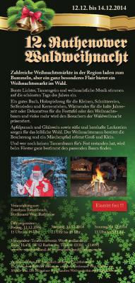 Foto zur Meldung: Rathenower Waldweihnacht 2014