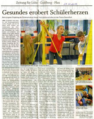 Foto zu Meldung: Gesundheitstag an der Schule am Neuen Teich Lübz