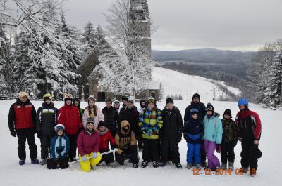 Foto zur Meldung: Deutsch- polnisches Skicamp der Oberschule Groß Köris in Zieleniec (Polen)