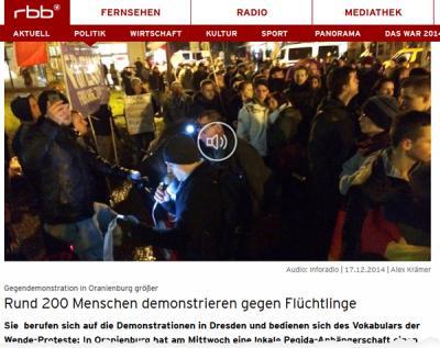 Foto zu Meldung: Ansprache des Bürgermeisters bei der Demonstration gegen Fremdenfeindlichkeit