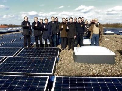 Foto zur Meldung: BEnW auf Einweihung Photovoltaik Anlage Gymnasium