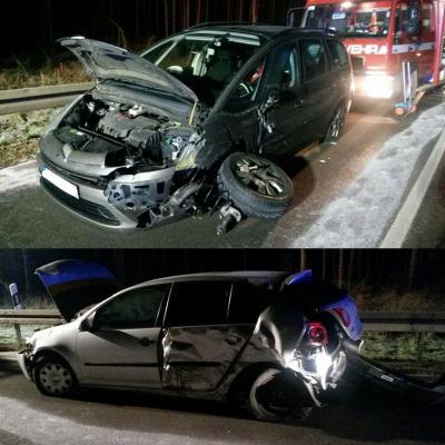 Foto zu Meldung: FFw Zinndorf bei Unfall auf B1 im Einsatz