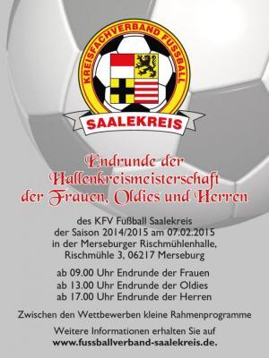 Foto zur Meldung: HKM Endrunden des KFV Fußball Saalekreis am 07.02.2015