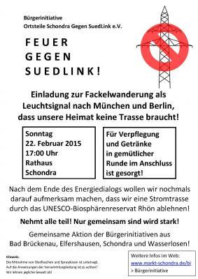 Foto zur Meldung: Feuer gegen SuedLink