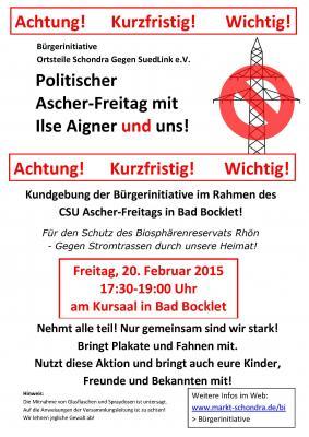 Foto zur Meldung: BI-Kundgebung beim politischen Ascher-Freitag in Bad Bocklet