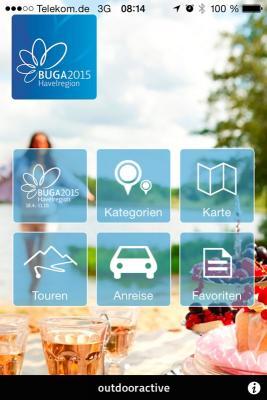 Die Buga-App auf dem Smartphone.