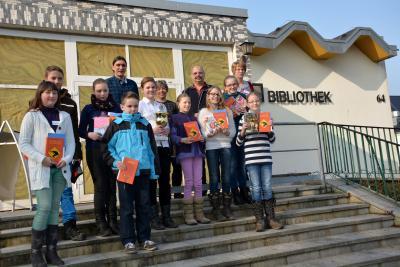 Foto zu Meldung: Neun Grundschulen schickten ihre besten Leser zum Vorlesewettbewerb 2015