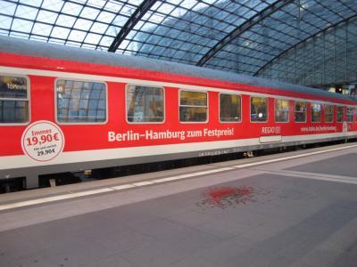 Foto zur Meldung: IRE Hamburg -  Berlin hält in Rathenow