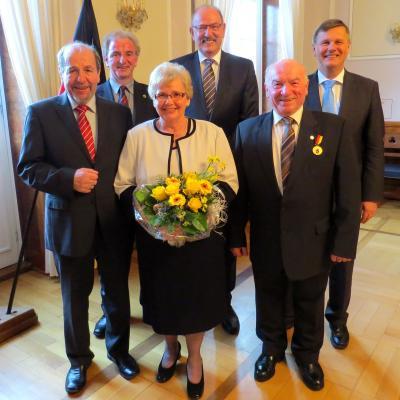Foto zur Meldung: Otto Riedel mit der Verdienstmedaille des Landes geehrt
