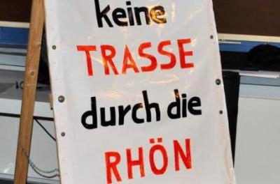 Foto zur Meldung: Bürgerinitiativen Südlink-Gegner in Fulda