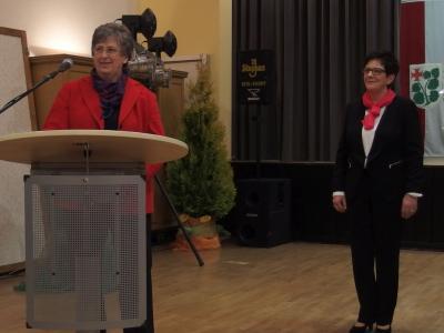 Foto zur Meldung: Frauenchor überbrachte Glückwünsche  zum 50jährigen Jubiläum der Landfrauen