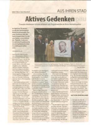 Foto zur Meldung: Theodor Andresen Schule erinnert mit Projektwoche an ihren Namensgeber