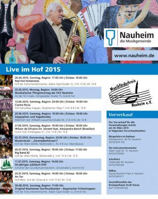 """Foto zur Meldung: Der Flyer für das Programm von """"Live im Hof"""" 2015 ist da!"""