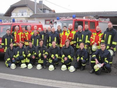 Foto zur Meldung: Gemeinschaftsübung der 3 Einsatzgruppen Freiwillige Feuerwehr Oberneisen