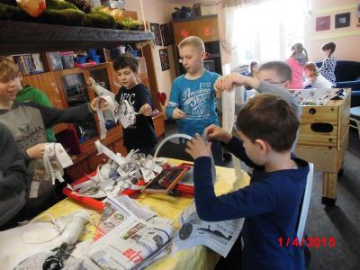 Foto zur Meldung: Groß Laasch- Kreativtage zu Ostern Jugendklub Groß Laasch