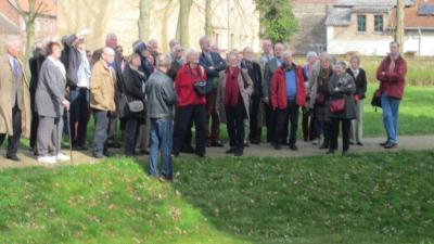 Foto zur Meldung: Besucher der Deutschen Burgenvereinigung in Freyenstein