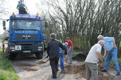 Foto zu Meldung: Straßeninstandsetzung in der Kirschallee