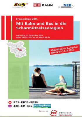 Foto zur Meldung: Mit Bahn und Bus in die Scharmützelseeregion - Flyer für 2015 erschienen