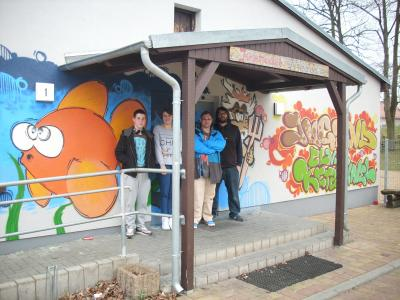 Foto zur Meldung: Graffiti für den Jugendclub Ketzin/Havel