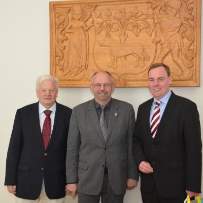 Foto zu Meldung: Besuch aus Winsen (Luhe) - über die Partnerschaft der Städte gesprochen
