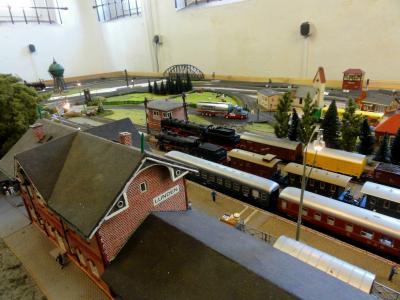 Modell des Lundener Bahnhofs