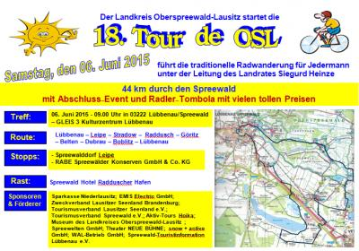 """Foto zur Meldung: 18. Tour de OSL zu Gast beim """"Geburtstagskind"""" Lübbenau"""