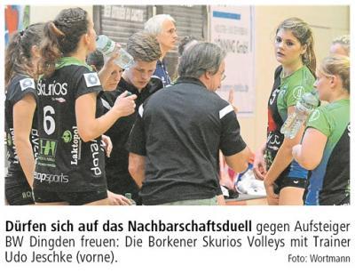 Foto zur Meldung: Borken ist eine Volleyball-prädestinierte Stadt