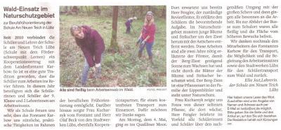 Foto zu Meldung: Waldpraktikum 2015