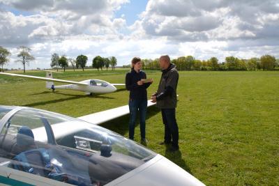 Foto zu Meldung: Segelfliegen in der Prignitz - Akaflieg–Berlin mit aktiven Vereinsleben schon 20 Jahre in Kammermark