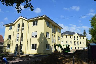 Unser Bild zeigt den Bau der Asylbewerberunterkunft in der Kremmener Straße