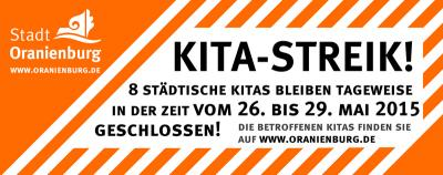 Foto zu Meldung: Zweiter Streik: Acht Einrichtungen teilweise geschlossen