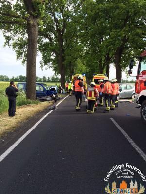 Foto zur Meldung: 4 Schwerverletzte nach Unfall auf B 96