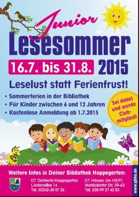 Foto zur Meldung: Junior Lesesommer 2015