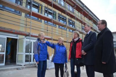 Foto zur Meldung: Arbeiten am Paul-Fahlisch-Gymnasium Lübbenau liegen gut im Zeitplan