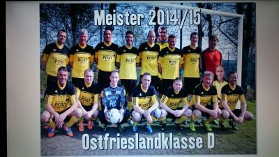 Foto zur Meldung: II. Herren Meister der Ostfrieslandklasse D Staffel 4