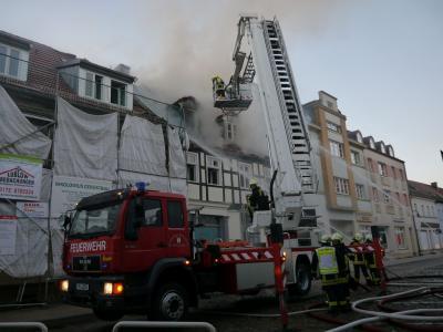 Foto zu Meldung: Großbrand in der Pritzwalker Wallstraße
