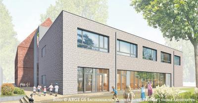 Foto zu Meldung: Grundschule Sachsenhausen wird um ein Hortgebäude erweitert