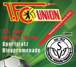 Foto zu Meldung: 1. FC Union Berlin kommt zum ersten Testspiel vor Saisonbeginn nach Falkensee – Vorbereitungen laufen auf Hochtouren - Kartenverkauf beginnt